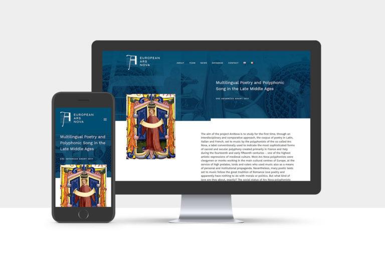 europeanarsnova, inkcstudios, logo, website, design, florence, italy, europeanresearchcouncil
